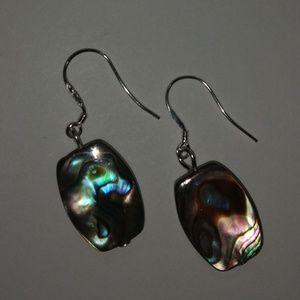 Jewelry - New! Abalone and sterling silver earrings ❤️